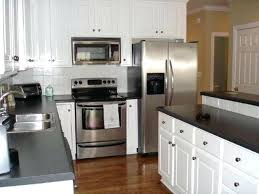 white cabinets with stainless appliances black and white kitchen with stainless steel appliances off white kitchen
