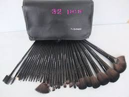 makeup brushes set mac. mac cosmetic wholesale factory online store - off real 32 piece brushes set with black leather pouch 2012 [cheap makeup