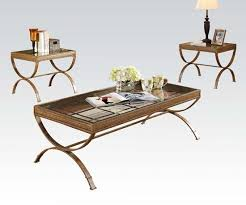 quintin glass coffee table and end tables