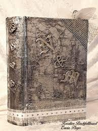 cover alutape initialen brautpaar buch gefaltet hochzeitsbuch folded book art folded book art