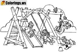 Playground 09 Playground Coloring Pages Park Playground Coloring