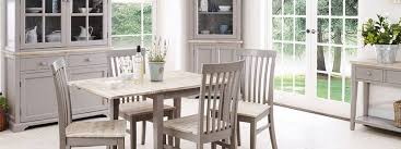 statement furniture florence dove grey matt painted washed rh sofaandhome co uk gray dining table set