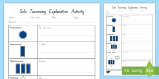Being stuck inside doesn't have to mean being bored! Solo Taxonomy Assessment Worksheet Worksheet