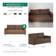 muy sofa tok stok mercadolivre com br
