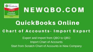 Quickbooks Online Export Chart Of Accounts Quickbooks Online Import Export Chart Of Accounts Qbo