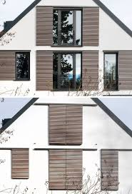 This house is an example of how to do modern window shutters