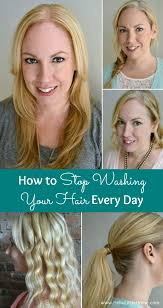 learn how to stop washing your hair every day you ll save time and