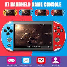 Máy chơi game cầm tay X7 - màn hình 4,3 inch 8GB - Máy Chơi Game, Xem Phim  - Tiếng Việt - senvangshop giá cạnh tranh