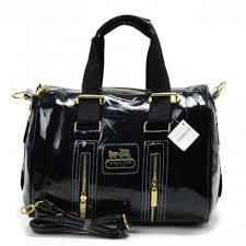 Coach Smooth Medium Black Luggage Bags AQN