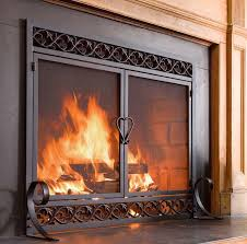 scrollwork cast iron fireplace screen