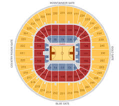 Wvu Coliseum Seating Chart Mbb West Virginia Mountaineers Tickets Hotels Near Wvu
