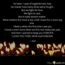 The Best 1 Year Of Togetherness Quotes Mesgulsinyali