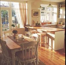 country style kitchen lighting. Country Style Kitchen With Cream Units. Garden Trading Pendent Lights Over The Breakfast Bar. Lighting M
