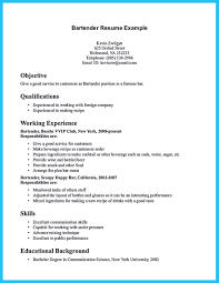 Excellent Resume Template Excellent Ways To Make Great Bartender Resume Template