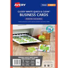 Avery 936229 C32028 Business Card Template Gloss 85 X 54mm