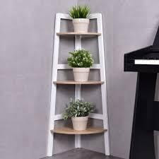 Basketball Display Stand Walmart Costway 100 Tier Wood Corner Bookcase Shelf Ladder Shelf Wall 30