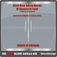 door hazard protection decals safety