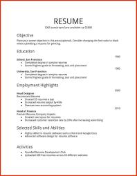 Simple Resume Format In Word File Free Download | Free Resume ...