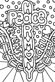 Digital Download Hand Drawn Peace And