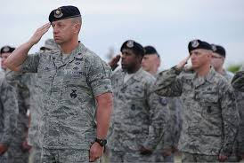 File U S Airmen With The 97th Security Forces Squadron Render A