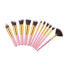 amazon 10 pcs makeup brushes set pincel maquiagem cosmetics powder eyeshadow cosmetic set 11 pink gold beauty