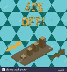 Text Sign Showing 40 Percent Off Business Photo Text 40