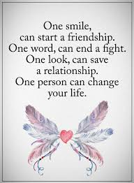 Quotes on smile Friendship Quotes one smile can start a friendship 63