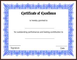Award Paper Template Certificate Template For Good Performance Copy Certificate Template 1
