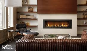 linear gas fireplace. Napoleon Vector 62 Direct Vent Linear Gas Fireplace, Painted Black Finish Fireplace