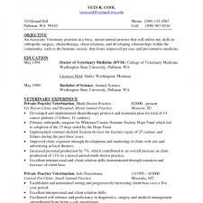 Resumes Veterinarianume Inspiration Sample Soaringeagle Vet School ...