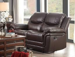 Living Room Furniture St Louis Homelegance St Louis Park Reclining Sofa Set Dark Brown Bonded