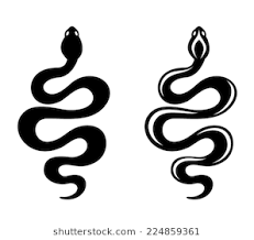 snake clipart black and white. Beautiful Black Snakes Vector Black Silhouettes Throughout Snake Clipart Black And White L
