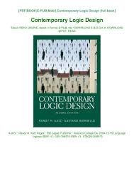 Contemporary Logic Design Ebook Pdf Contemporary Logic Design Book Randy H Katz