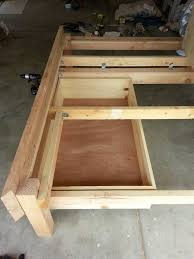 picture of platform storage bed frame