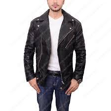 Adam Levine Black Leather Biker Jacket