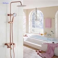 Dofaso Luxus Rose Gold Kupfer Dusche Wasserhahn Bad Antiken