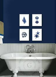 wall decorations for bathrooms unthinkable navy wall decor coastal blue art set of 4 beach bathroom and white gold anchor wall decor ideas for small