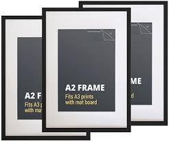 black picture frames. Set 3 A2 Black Pic. Picture Frames