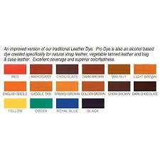 remodel fiebings leather dye vs pro dye