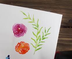 easy watercolor flower tutorial