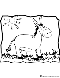 Small Picture Donkey Coloring Page Woo Jr Kids Activities