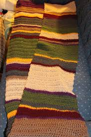 Dr Who Scarf Pattern Mesmerizing StormFly Crafts Doctor Who Fourth Doctor's Scarf Crochet Pattern