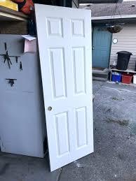 six panel doors two six panel solid core interior doors never been opened 3 panel closet