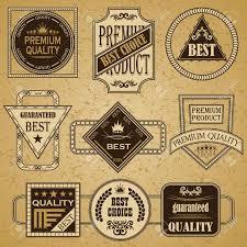 Vintage Design Set Of Retro Labels Vintage Design Retro Style Big Collection