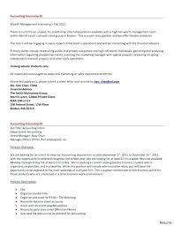 Cover Letter Accounting Internship Examples Sample Project