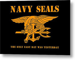Navy Seals Logo And Motto Metal Print By Indrea Lucitawonder
