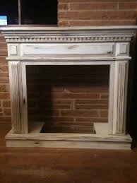 distressed fireplace for gas log insert