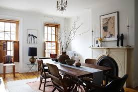 the dining room of jewelry designer lizzie fortunato s brooklyn apartment is nbsp the perfect landing spot