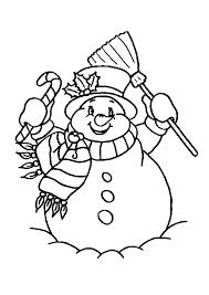 Kleurplaat Kerst Een Blije Sneeuwpop Aangekleed Als Kerstman 5341
