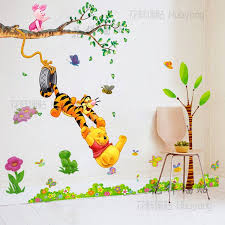 wall stickers kids room pooh swing children s room wall stickers personalized kids home decor